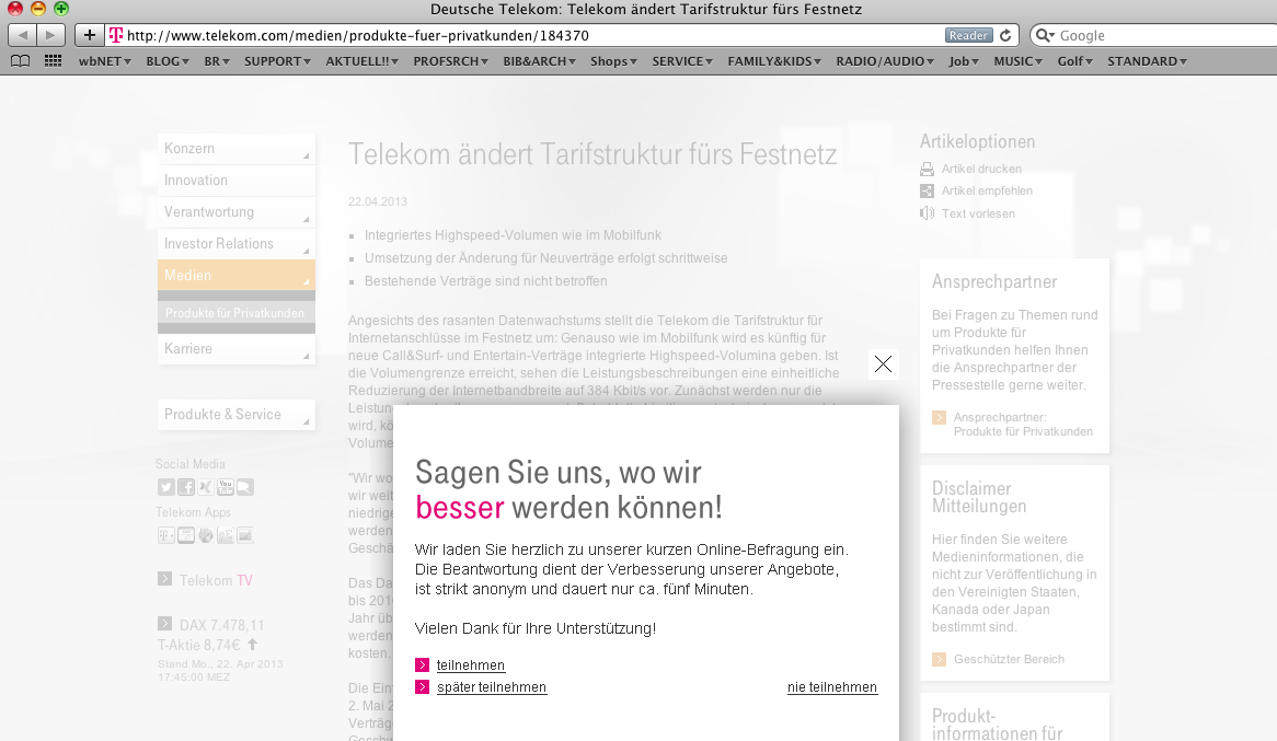 Genug Geprasst Telekom Schraubt Dsl Hahn Zu Bleisätze