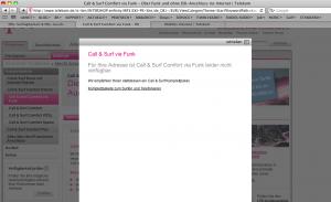Telekom-C+S nicht verfügbar