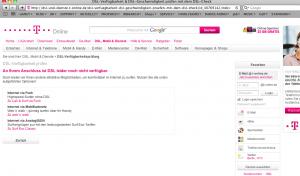Telekom-DSL nicht verfügbar