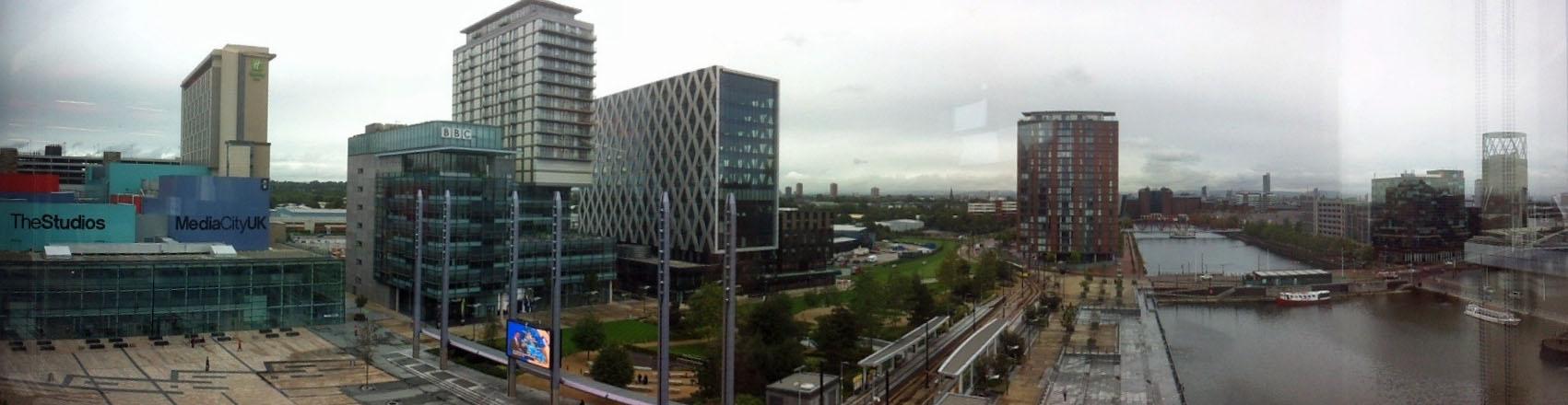Imposante Anlage: MediaCity Manchester